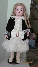 """Antique Reproduction Bru-Jne 11 Doll 24 1/2"""" Tall"""