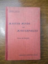 Pierre Sayn: Master minds and masterpieces, classe de seconde/ Armand Colin,1945