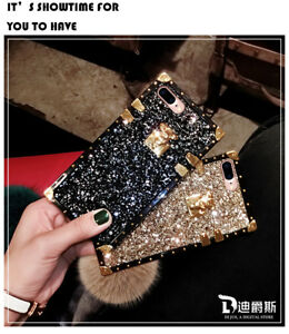 Bling Glitter Square Phone Case For iPhone 11 Pro Max X XR 6 7 8 Samsung S10 A30