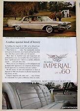 Imperial Crown Four Door Southampton  1960 Magazine Print Ad 7 x 10