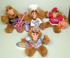 1988 Burger King FULL SET of 5 ALF Alien Plush Hand Puppet Dolls w/Tags EUC