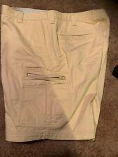 Columbia Mens Khaki Cargo Shorts Size 38 Yellow 100% Cotton