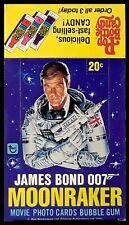 1979 Topps James Bond 007 Moonraker [The Movie]- Empty Display Box - Roger Moore