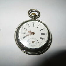 Hunter Swiss Made Pocket Watch - Working Antique Freya V .800 Solid Silver Full