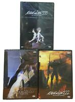 3 Dvd EVANGELION 1.11+2.22+3.33 - YOU CAN (NOT) ALONE + ADVANVE + REDO nuovo
