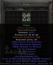 Diablo 2 Resurrected D2R  - Stone | Eth Great Hauberk - Merc Armor | EU/NA/Asia