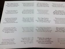2 X A4 TRANSPARENT EASY PEEL OFF VERSES STICKERS CARD MAKING CHRISTMAS A FREE PP