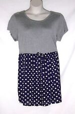 SIMPLY BE – CUTE DRESS – GRAY with NAVY & WHITE POLKA DOTS –  SIZE 18 – NWT $42