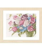 Lanarte Cross Stitch kit 0158327 Pretty Bouquet of Flowers