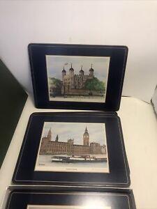 6 Pimpernel Cork Back Placemats Harrods Scenes of London England