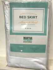 "Martha Stewart ""Everyday"" Cotton Rich Tailored Bed Skirt White-Twin Size"