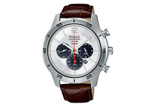 Pulsar Herren-Armbanduhr Solar Chronograph Quarz Leder PX5049X1, Neu, OVP