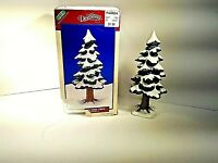 "DEPT 56 LEMAX SNOWED PINE TREE 9""T PORCELAIN DICKENVILLE VILLAGE COLLECTION 1995"