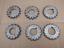 6 off 24DP GEAR CUTTERS. IN GOOD CONDITION