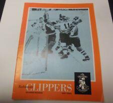 1971 AHL HOCKEY PROGRAM BALTIMORE CLIPPERS VERY RARE VS QUEBEC ACES DECENT CONDI