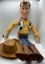 """Disney Store Pixar Toy Story Sheriff Woody 15"""" pull-string talking Doll with Hat"""
