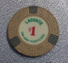 New listing Casino Chip Token Puerto Rico.Lagente San Juan $1.00