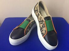 NWOT MSGM Floral Lace LeatherTextile Slip On Platform Shoes SZ 37 Italy (Bx19)