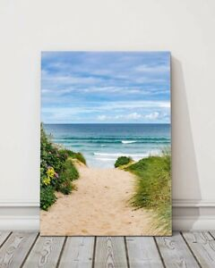 path to fistral beach cornwall canvas picture print framed portrait