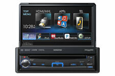 "KENWOOD KVT-7012BT CAR 1-DIN DVD CD BLUETOOTH STEREO W/ MOTORIZED 6.95"" SCREEN"