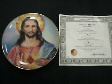 "Franklin Mint Beautiful Limited Gold Trim Plate ""Sacred Heart"" Free Ship"