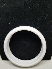White Lucite Vintage Bangle Thick Bracelet