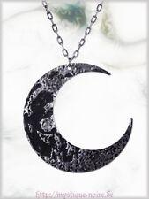 Halskette Gothic Halb Mond Moon Sailor Necklace Steampunk Luna Phase