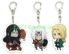 Set of 3 Naruto Anime Acrylic Keychain Orochimaru, Tsunade, Jiraiya