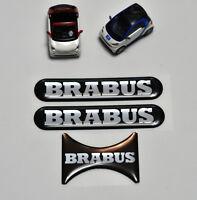 Smart Mercedes Fortwo 451 B Logo Emblem konvex Aufkleber 3D Stickers - 3x
