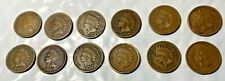 1882 THROUGH 1906 INDIAN HEAD PENNY LOT-12 COINS--ALL DIFFERENT