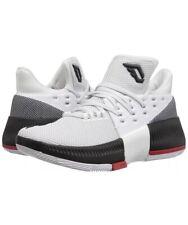 adidas D Lillard 3 J White/Blk/Scarlet Kids Basketball Shoes BW0535 Size 6