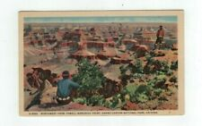 Antique 1941 linen post card Grand Canyon National Park from Powell Point
