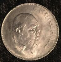 1965 SIR WINSTON CHURCHILL COMMEMORATIVE CROWN - GREAT BRITAIN - ENGLAND - UK