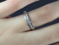 $899 Zales 14K White Gold Princess Cut Diamond Wedding Band Anniversary Ring