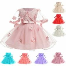 Dress formal kid girl bridesmaid dresses baby wedding princess party tutu flower