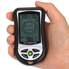 8in1 Digital LED Altimeter+Weather+Altitude+Compass+Thermometer+Barometer+Clock