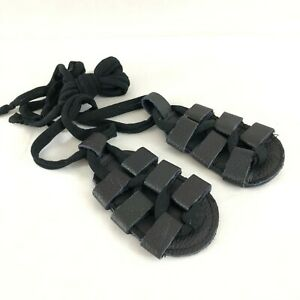 Baby Girls Gladiator Sandals Faux Leather Lace Up Black US Size 2