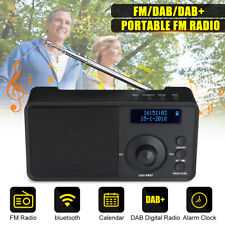 Portable Digital DAB/DAB FM Stereo Radio LED Alarm Clock bluetooth Speaker