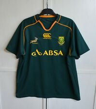 SOUTH AFRICA RUGBY UNION SHIRT JERSEY SPRINGBOKS GREEN CANTERBURY MEN'S SIZE 2XL