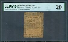 $2/3 Continental Currency, 1776 – Pmg Very Fine 20