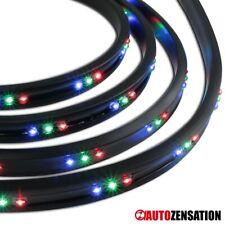 "4PC Under Car Under Body 7 Color Neon LED Light Strip 24""+36"" w/ Remote Control"