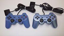 """PS2  Controller  """"Toy bule & Aqua Blue  """" x2 pcs  Rare color  JP [A9106]"""