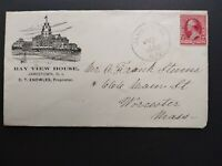 Rhode Island: Jamestown 1892 Bay View House Hotel Advertising Cover