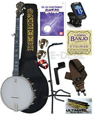 Deering Artisan Goodtime 5-String Openback Banjo Open Back Package Bundle