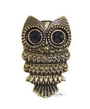 Bronze Cute Owl Bird Costume Jewellery Adjustable Ring