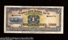 SOUTH WEST AFRICA 1 POUND 29-11-1958 SHEEP SHIP RARE CURRENCY MONEY STANDARDBANK