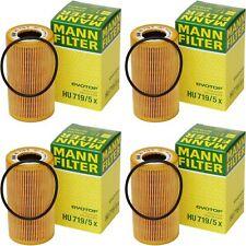 4pc PORSCHE Oil Filter HU719/5x MANN-FILTER Boxster,911,Cayman,Cayenne,Carrera