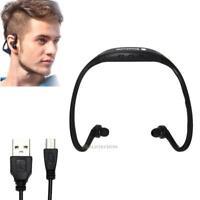 Bluetooth Nackenbügel Kopfhörer mit Mikrofon Sport Gym Jogging drahtlos Schwarz