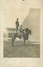 """""""A Friend Going Over To Hull For A Work Out"""", North Des Moines IA RPPC 1912"""