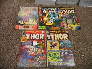 Fantastic Four 11 Silver Surfer 12 Journey Into Mystery 122 119 114 Thor Comp Re